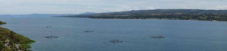 Panorama. yang titik item itu keramba ikan