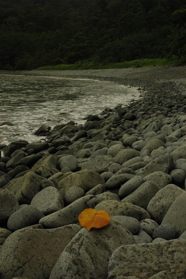 ini teluk batu, isinya yah beginian batu-batu melulu tapi dibalik teluk ini dong baru surga :). Istilahnya harus dihajar dulu baru dapat heaven hehe