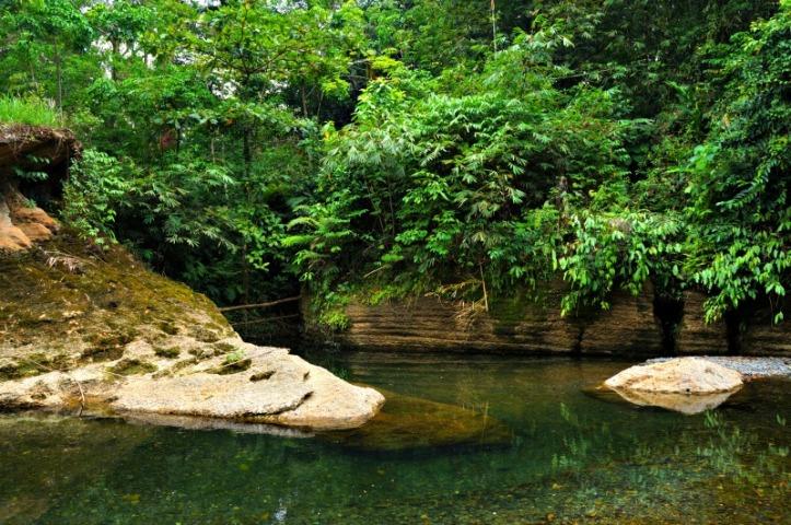 Sungai Landak ketika kemarau