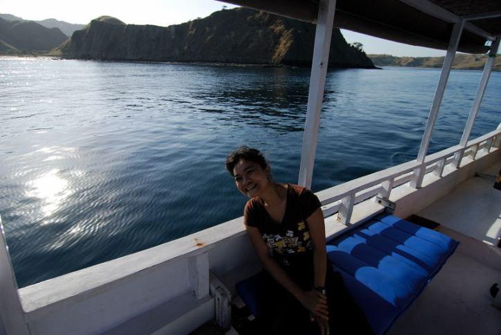 Didalam kapal menuju Komodo/Rinca