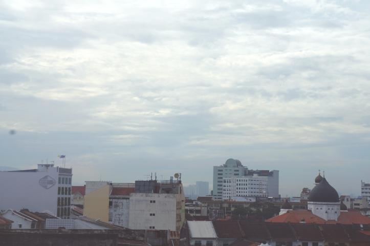 kota Penang dari atas hotel
