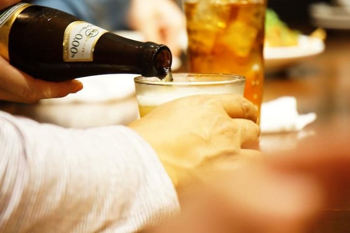 Beer di restoran Jepang