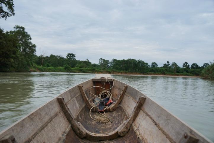 Ini moda kapal dari sungai. Goyang-goyang gitu naiknya tapi pemandangannya lumayan. Kita bisa liat primata atau binatang lain di pinggir sungai, orang mandi, mancing, nyuci , anak2 main dll.