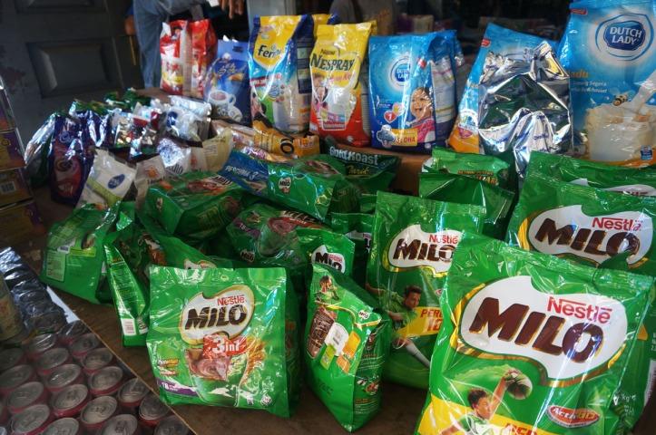 Milo import di pasar keramik