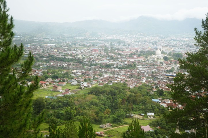 Kota Takengon dari atas bukit