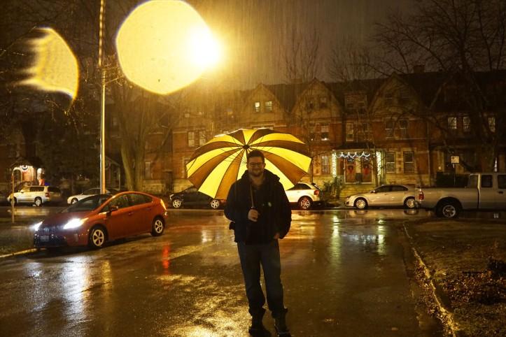 Matt under the rain