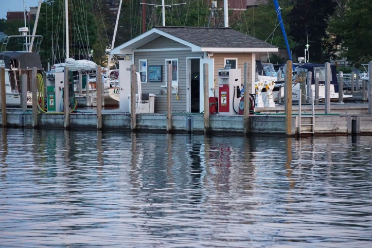 Kabin di pelabuhan Mackinac Island