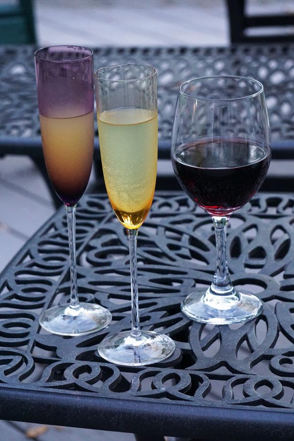 Mimosa & wine
