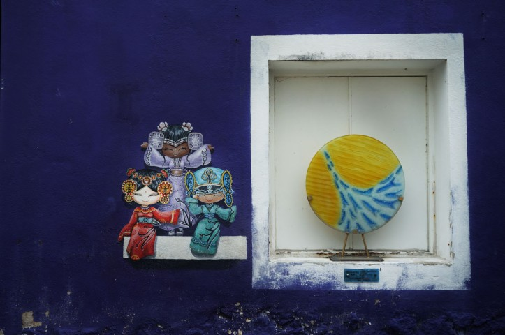Three Chinese Dolls or Cultural Girls at Lebuh Armenian