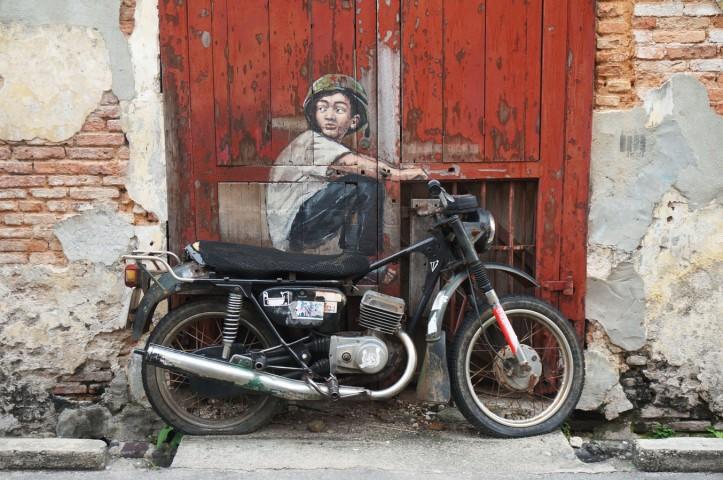 old motorcycle _ penang mural