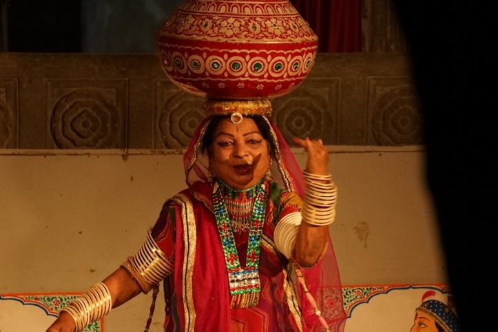 Bagore Ki Haveli folk dancing show Udaipur